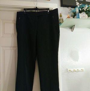 Worthington black & white striped size 16 pants